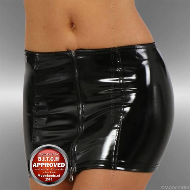 Skirt Stretch Lacquer Black