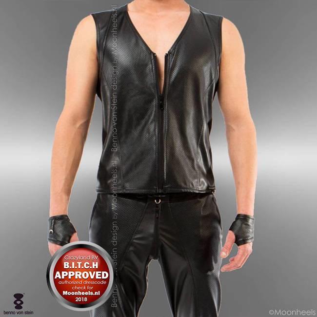 Benno von Stein Shirt Man Imitation Leather Remas Benno von Stein