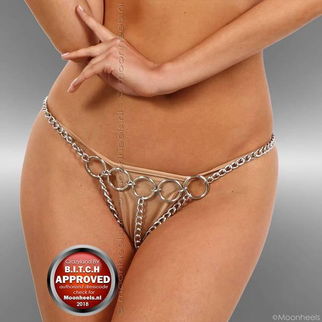 Chain string gloss chrome steel