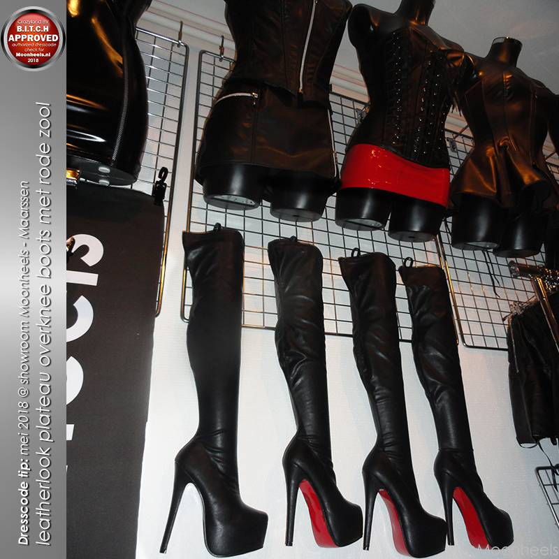 Red Sole overknee plateau laarzen