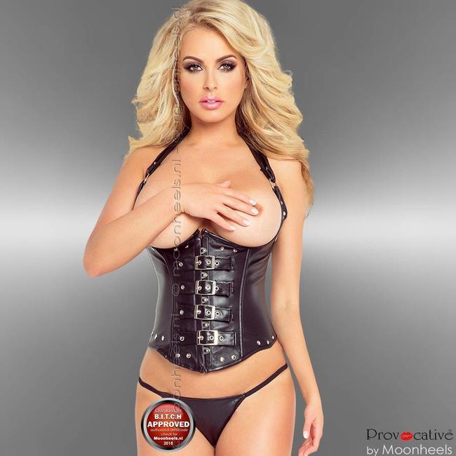Provocative Sturdy leather corset