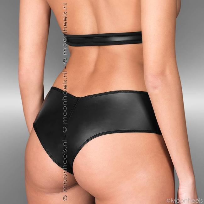 Kinky set neoprene (rubber) of top and hotpants - Copy - Copy - Copy