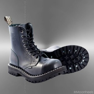 Black leather men's boots