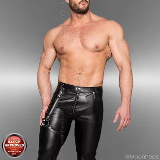 Leatherlook pants with harness