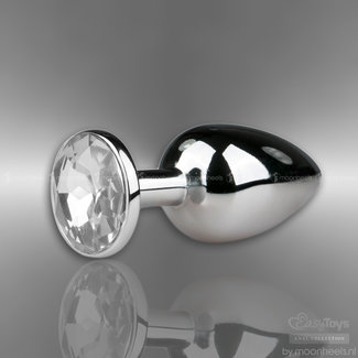 Easytoys Metal butt plug with transparent diamond