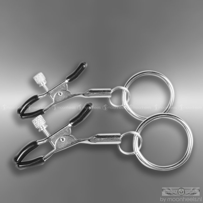 Easytoys Metal Nipple Clamps With Ring