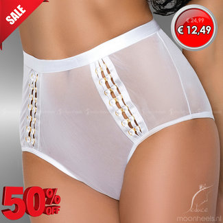 "MeSeduce Hoge witte ""see-through"" taille slip Gloria"