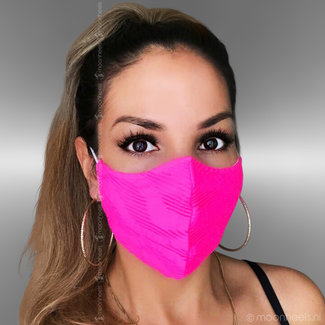 Stoffen mondkapje in roze