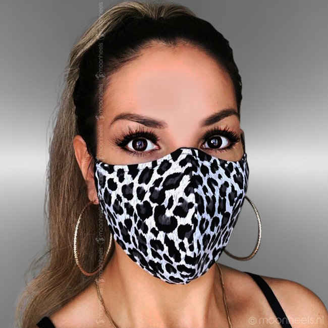 Fabric mouth mask in Leopard design