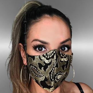 Fabric mouth mask, 2-layer, blue, ear elastic - Copy - Copy - Copy - Copy - Copy
