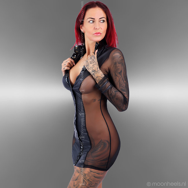"Exclusive Italian wetlook dress ""Seducente"""