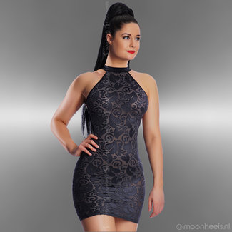 Exclusive silver gray club dress Devore