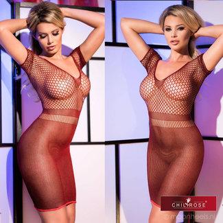 Red transparent lingerie dress