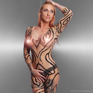"Sexy catsuit in ""Zebra-print"""