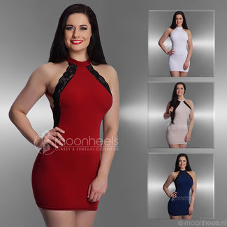 Seductive dress with lace in 4 colors