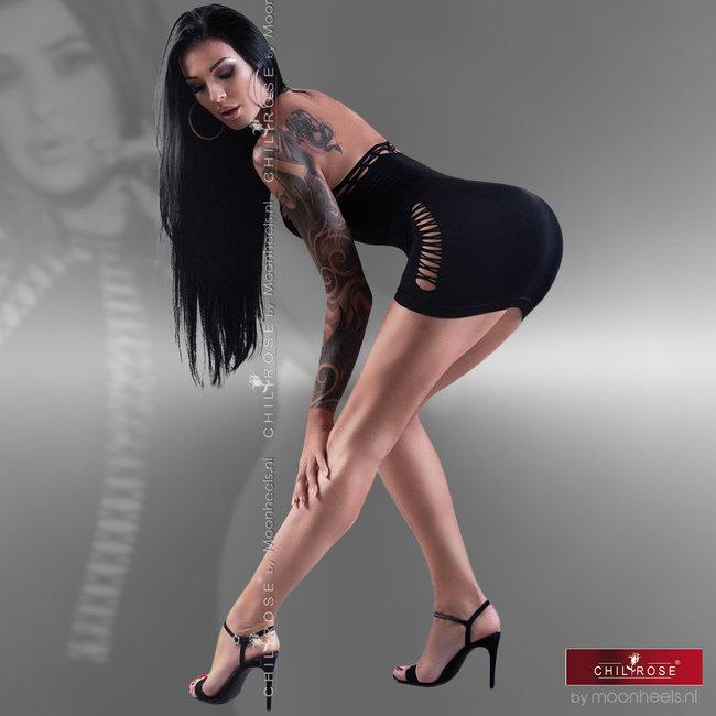 Chilirose Exciting Black Seamless Clubwear Dress