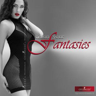 Chilirose Soanend black halter dress