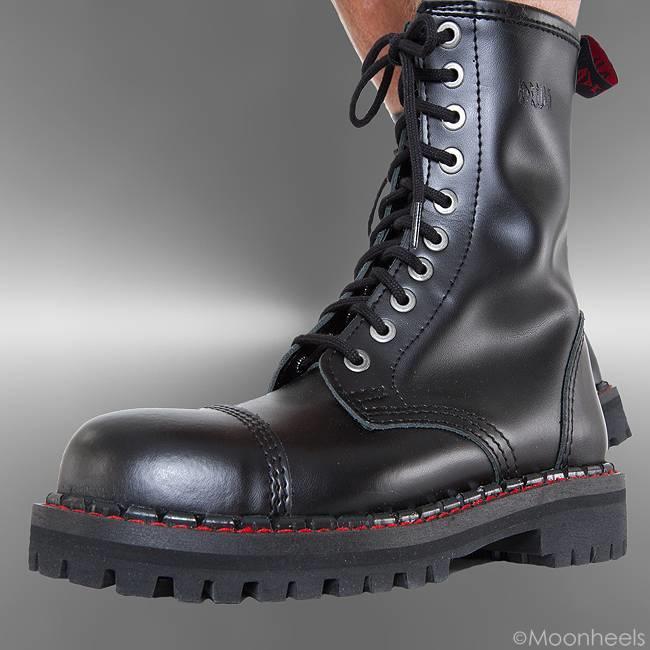 Aderlass Stoere zwart leren Combat Boots