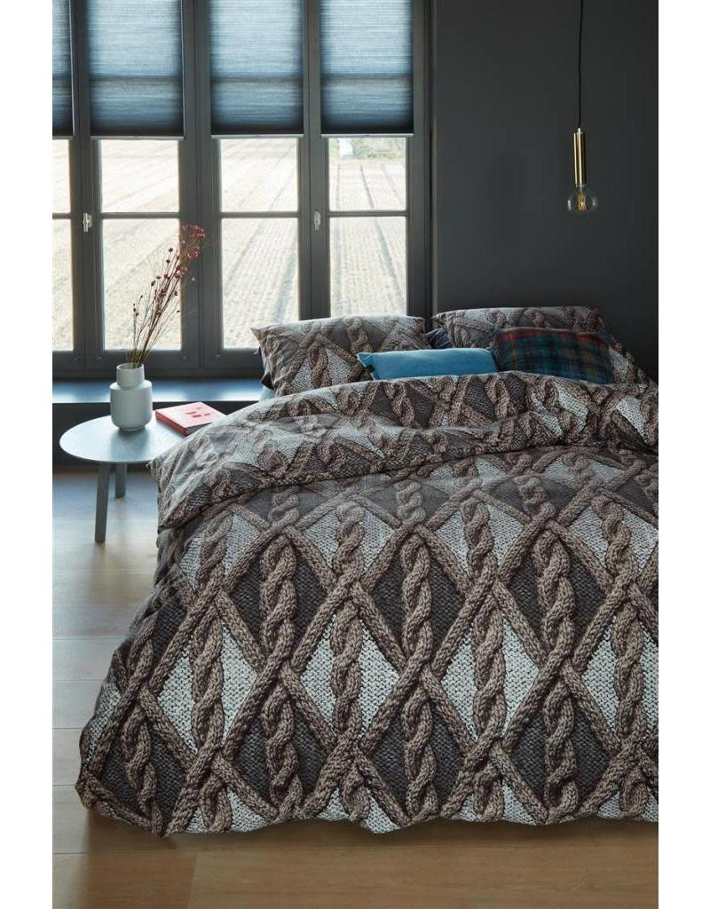 Beddinghouse Beddinghouse dekbedovertrek Aran Knit Grey