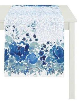 Apelt Tafelloper Blauwe Bloem 48x140 cm