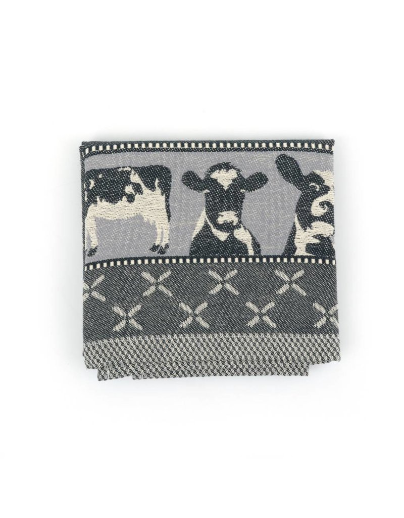 Bunzlau Castle Bunzlau Castle theedoek Cows Black 65x65