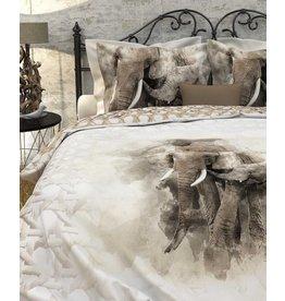 Heckett & Lane Heckett & Lane dekbedovertrek Mosi Sandshell Off-White