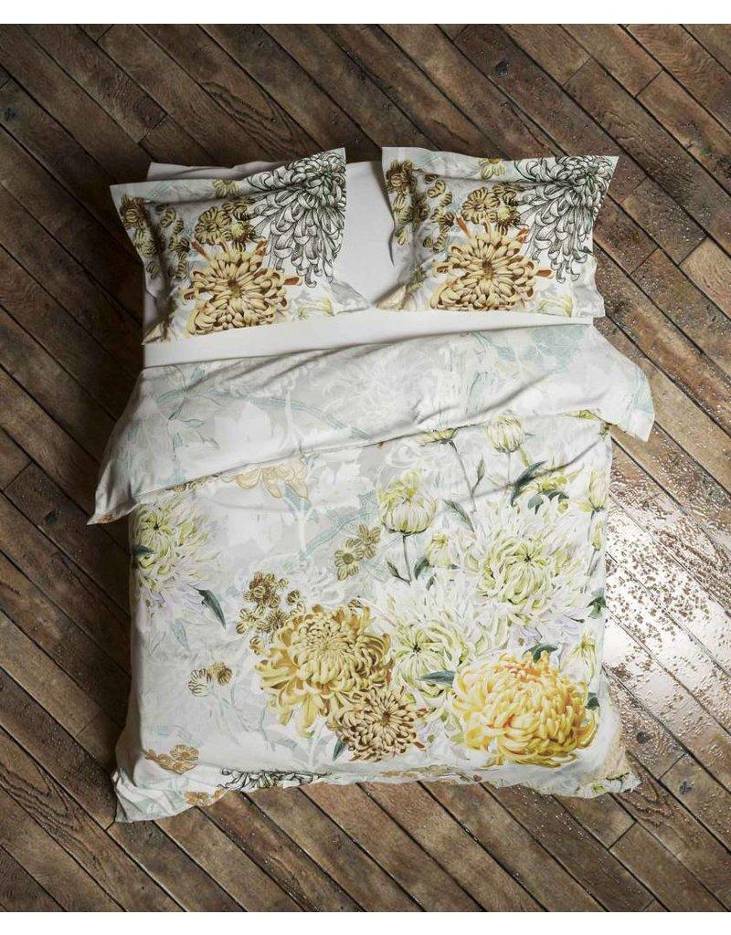 Heckett & Lane Heckett & Lane dekbedovertrek Chrys Mimosa-White