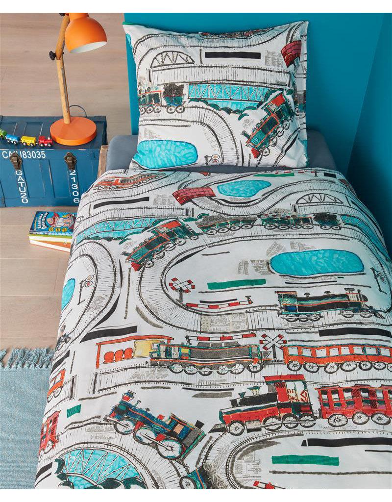 Beddinghouse kids dekbedovertrek Railways