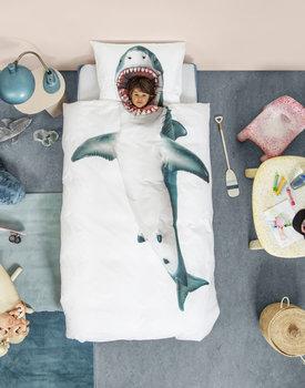 Snurk dekbedovertrek Shark!! 140x200/220