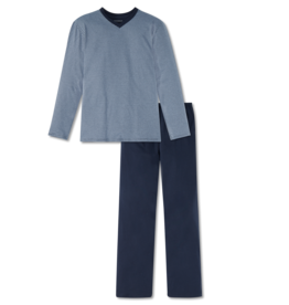 Schiesser Schiesser herenpyjama 166790 lang streep blauw