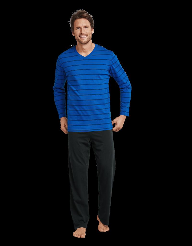 Schiesser Schiesser Pyjama 159622 heren donkerblauw