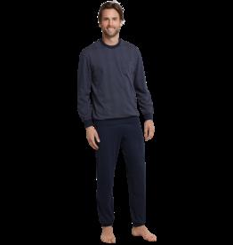 Schiesser Schiesser Pyjama 159620 heren donkerblauw