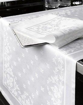 De Witte lietaer tafellaken lilium wit
