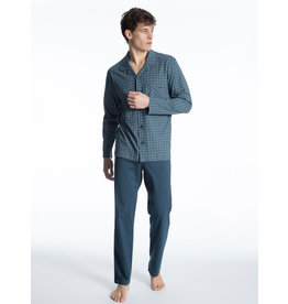 Calida herenpyjama 40863 blue wing teal