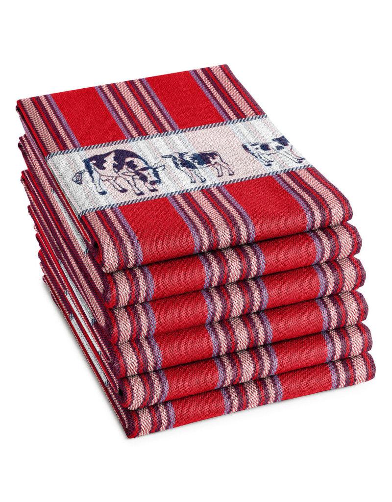 DDDDD DDDDD theedoek Friesian red 60x65 (per stuk)