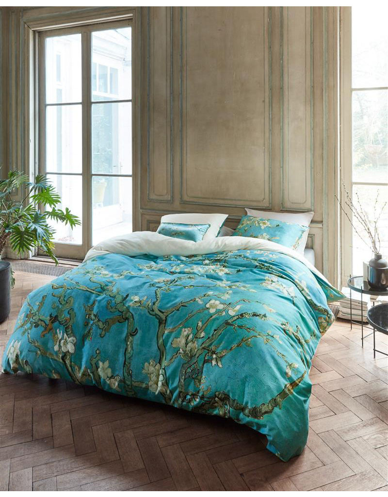 Beddinghouse Beddinghouse x Van Gogh dekbedovertrek Almond Blossom blauw