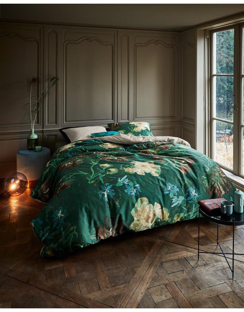 Beddinghouse Beddinghouse x Van Gogh dekbedovertrek Peonies zeegroen