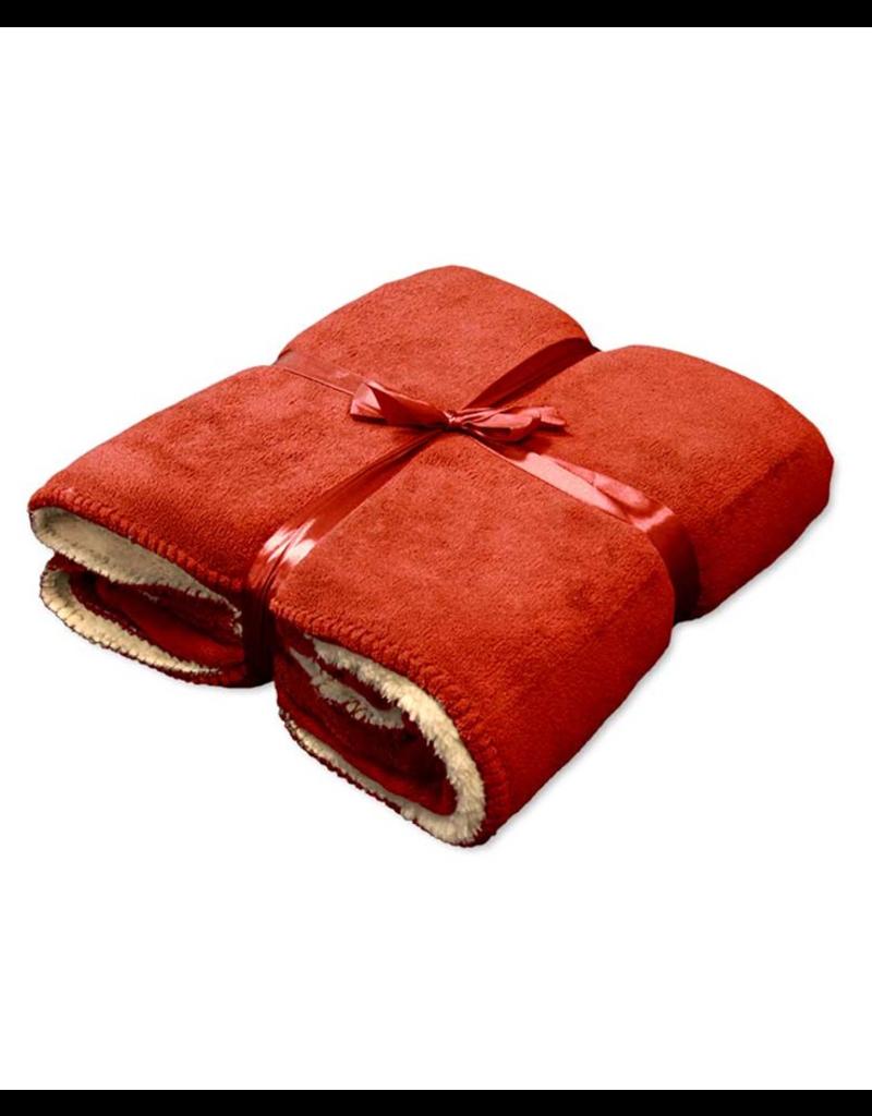 Unique Living Unique Living fleece deken Coby  clay-red