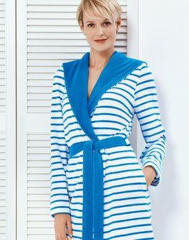 Taubert badjas YACHT 100cm met capuchon blue/white