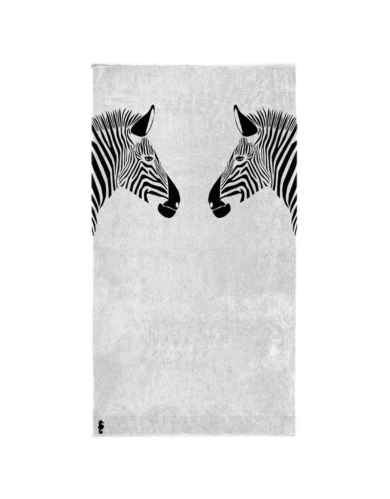 Seahorse Seahorse strandlaken Zebra white 100x180