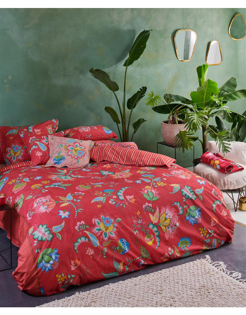 Pip Studio Pip Studio dekbedovertrek Jambo Flower rood