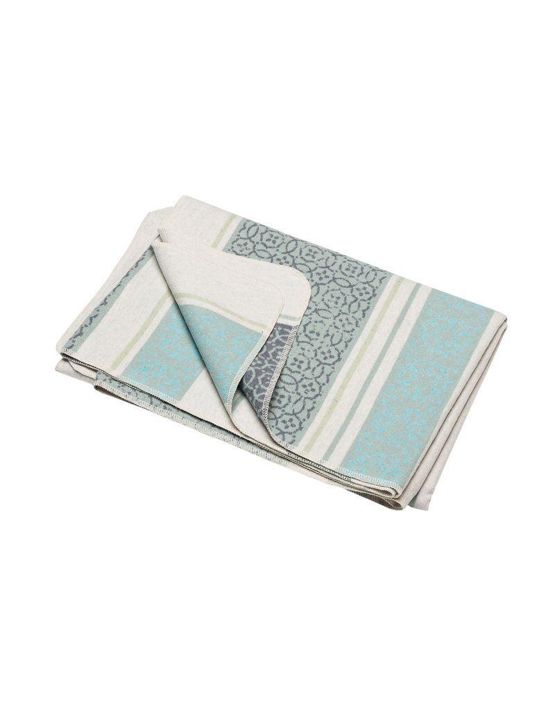 David Fussenegger David Fussenegger plaid Silvretta 'small pattern bordure' 140x200 jade