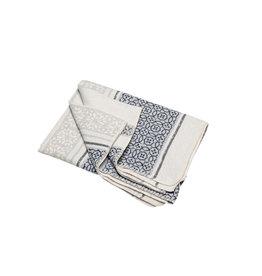 David Fussenegger David Fussenegger plaid Silvretta 'small pattern bordure' 140x200 grey