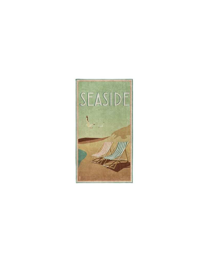 Seahorse Seahorse strandlaken katoen Blackpool green 90x170