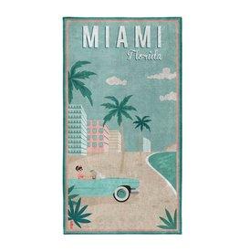 Seahorse Seahorse strandlaken katoen Miami mint 90x170