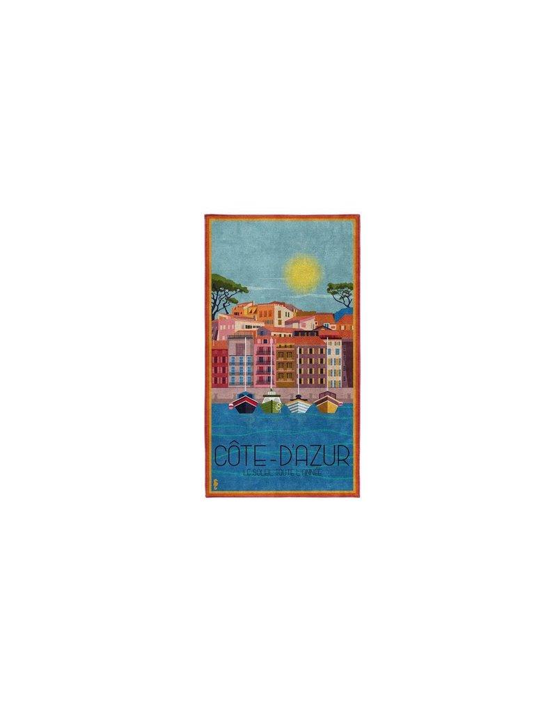 Seahorse Seahorse strandlaken katoen Riviera azur 90x170
