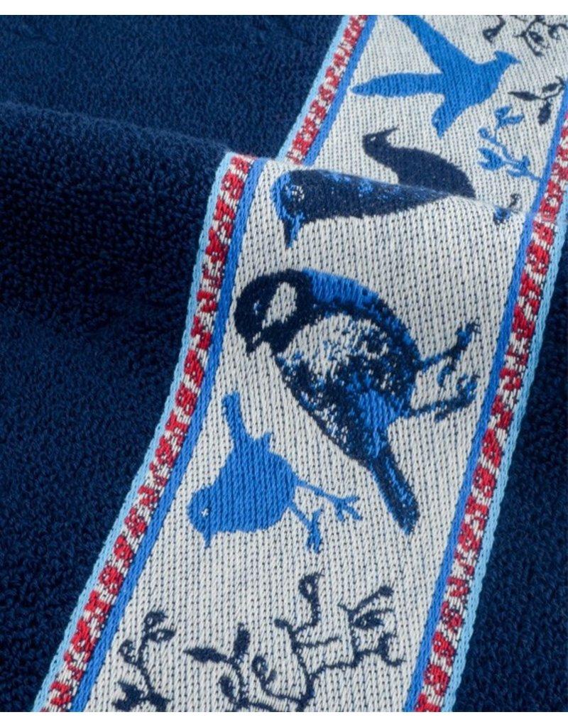 Bunzlau Castle Bunzlau Castle keukendoek Birds dark blue