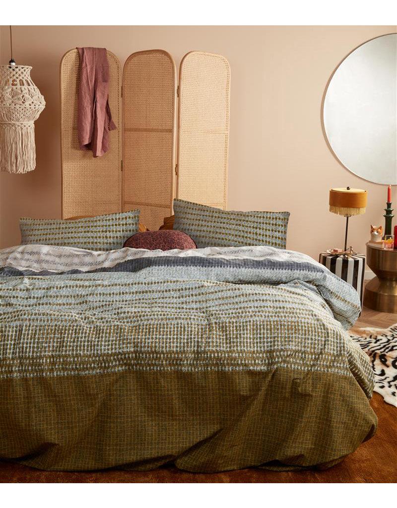 At Home by BeddingHouse Roots Ochre Dekbedovertrek - Oker