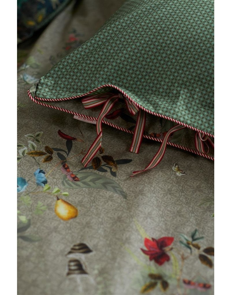 Pip Studio Pip Studio Fall in Leaf Dekbedovertrek - Khaki
