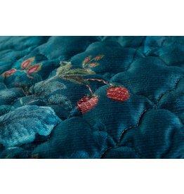 Pip Studio Pip Studio Leafy Stitch Velvet Quilt - Blauw